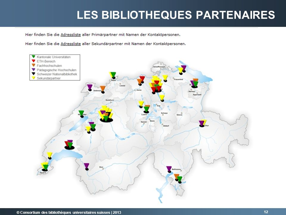 Les bibliotheques partenaires