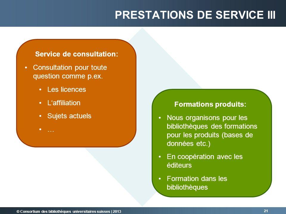 Service de consultation: