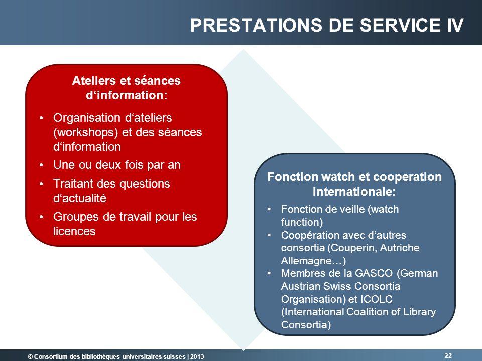 Ateliers et séances d'information: Fonction watch et cooperation