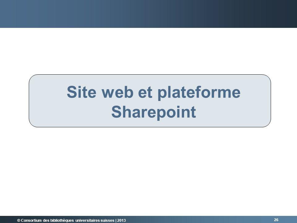 Site web et plateforme Sharepoint