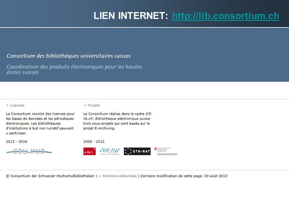 Lien internet: http://lib.consortium.ch