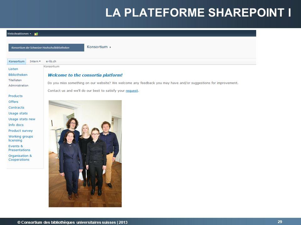La plateforme Sharepoint I