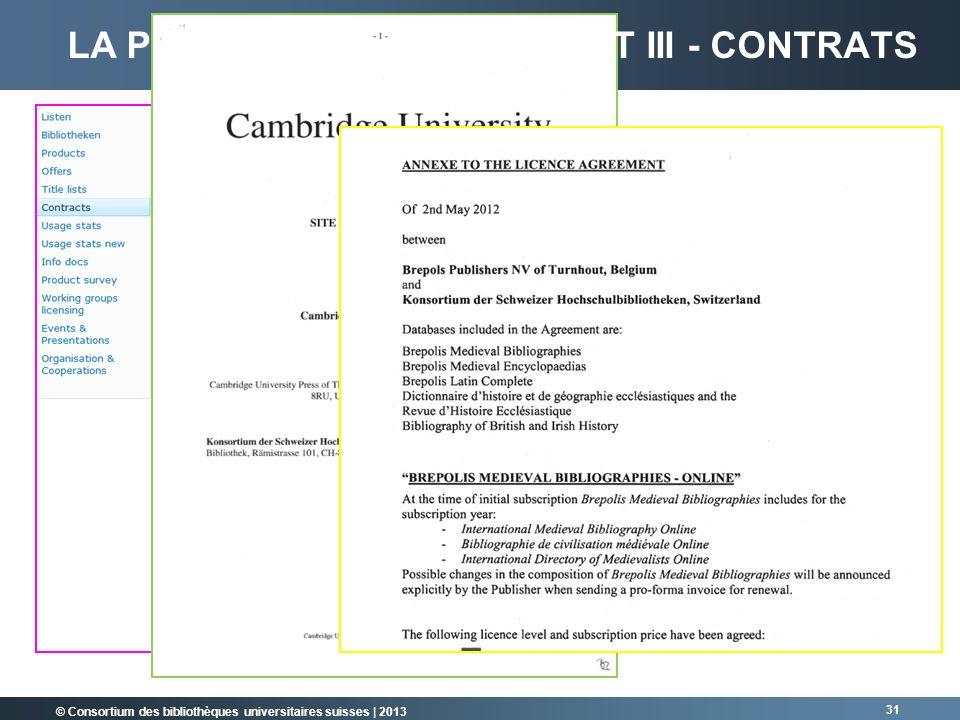 La plateforme Sharepoint III - Contrats