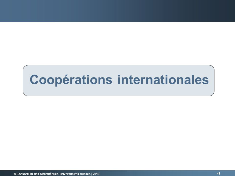 Coopérations internationales