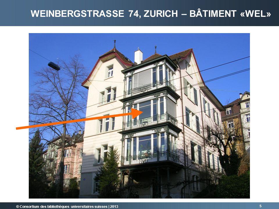 Weinbergstrasse 74, Zurich – Bâtiment «WEL»