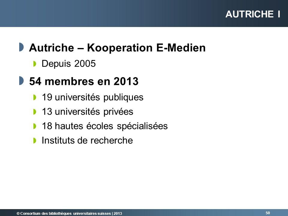 Autriche – Kooperation E-Medien 54 membres en 2013