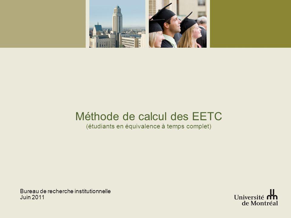 Méthode de calcul des EETC