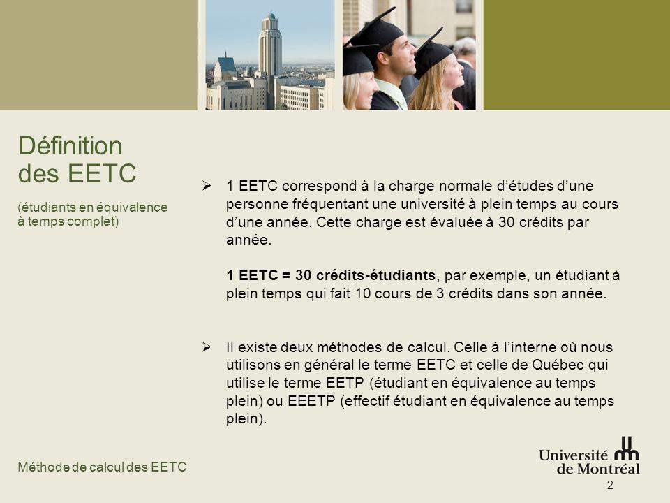 Définition des EETC (étudiants en équivalence à temps complet)