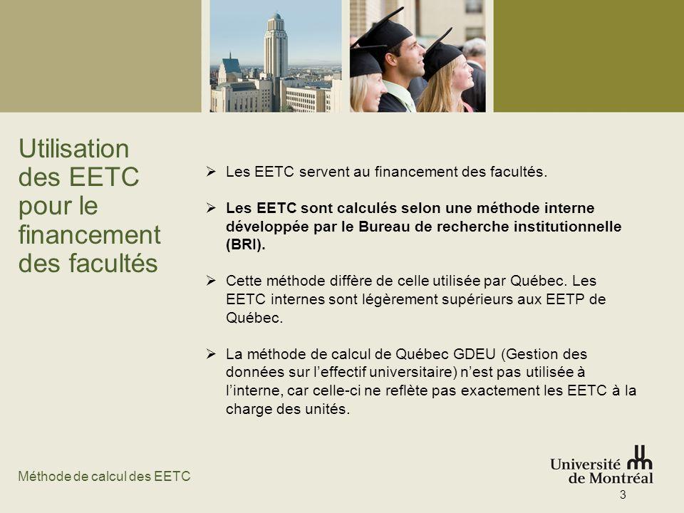 Utilisation des EETC pour le financement des facultés