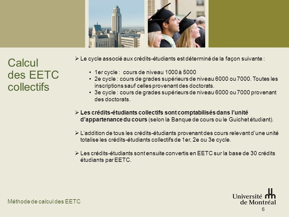 Calcul des EETC collectifs