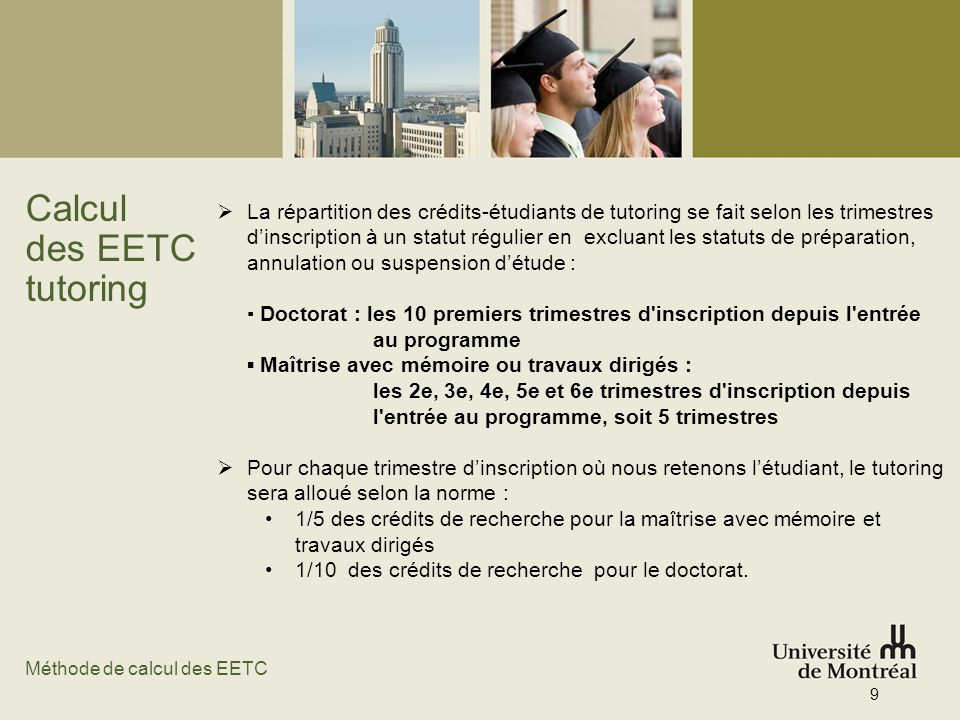 Calcul des EETC tutoring