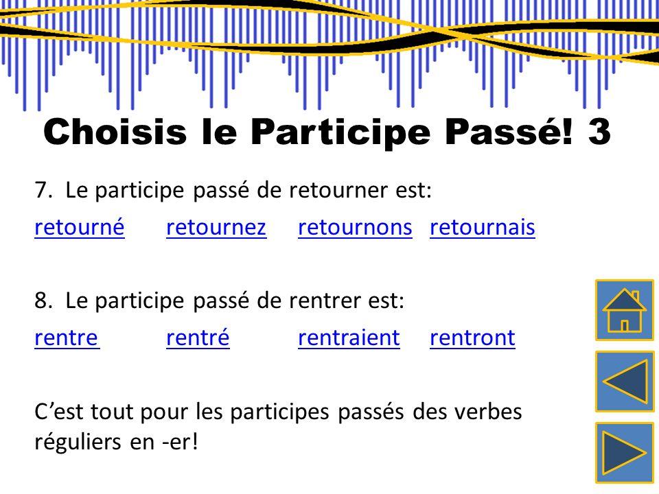 Choisis le Participe Passé! 3
