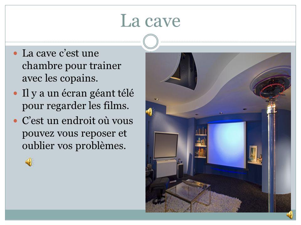 La cave La cave c'est une chambre pour trainer avec les copains.