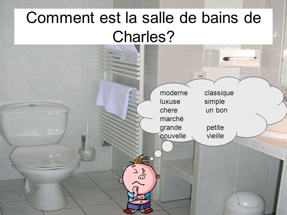 Comment est la salle de bains de Charles