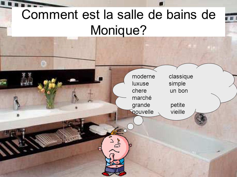 Comment est la salle de bains de Monique