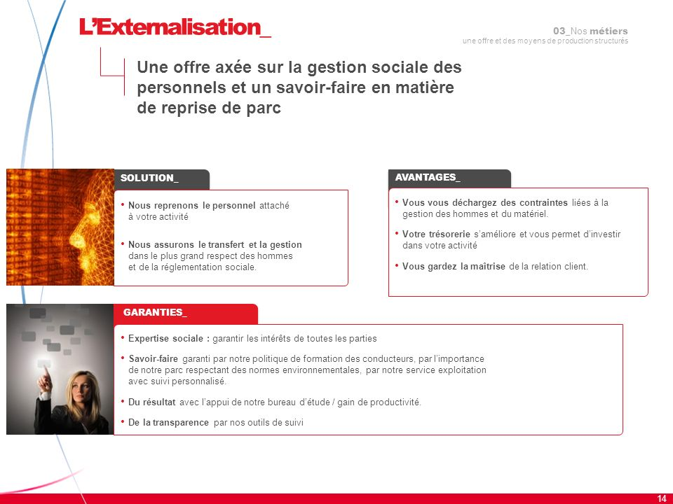 L'Externalisation_03_Nos métiers une offre et des moyens de production structurés.