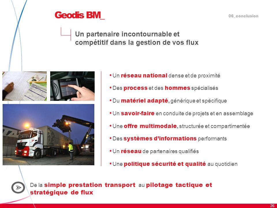 Geodis BM_06_conclusion. Un partenaire incontournable et compétitif dans la gestion de vos flux. Un réseau national dense et de proximité.