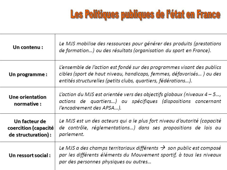 Les Politiques publiques de l'état en France