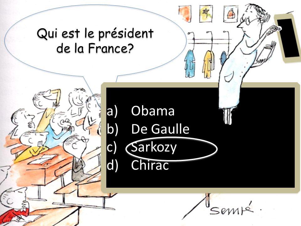 Qui est le président de la France