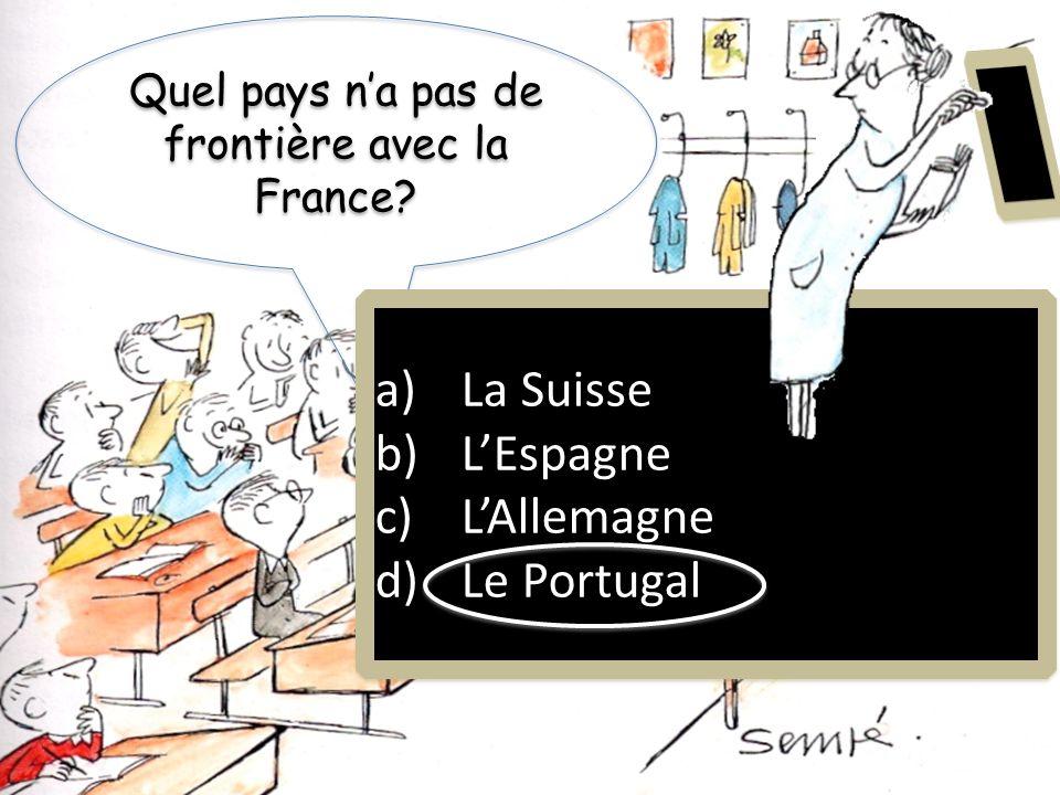 Quel pays n'a pas de frontière avec la France