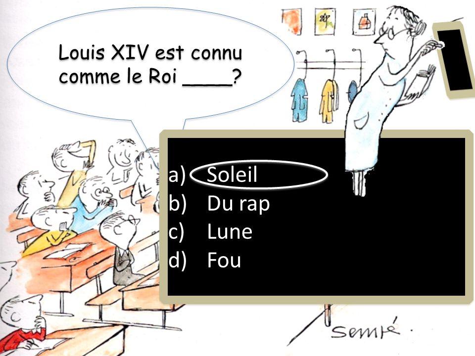 Louis XIV est connu comme le Roi ____