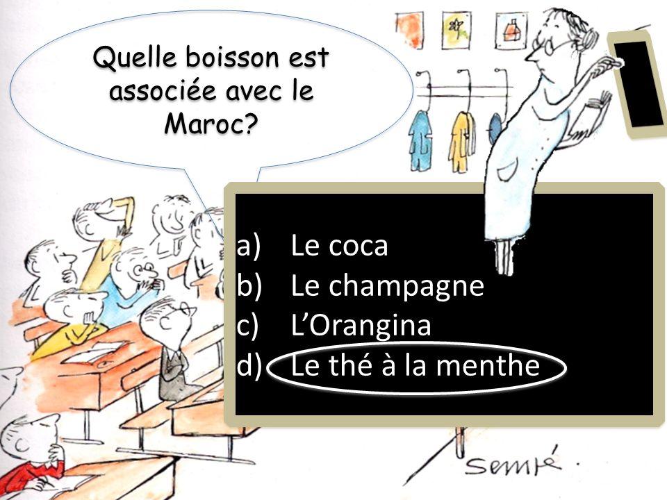 Quelle boisson est associée avec le Maroc
