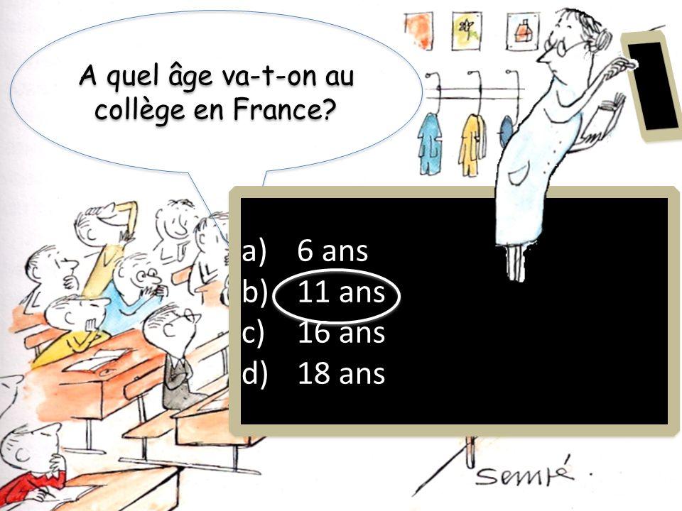 A quel âge va-t-on au collège en France