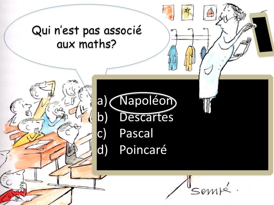 Qui n'est pas associé aux maths