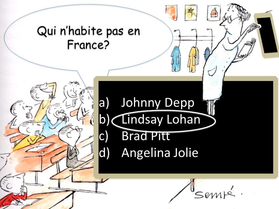 Qui n'habite pas en France
