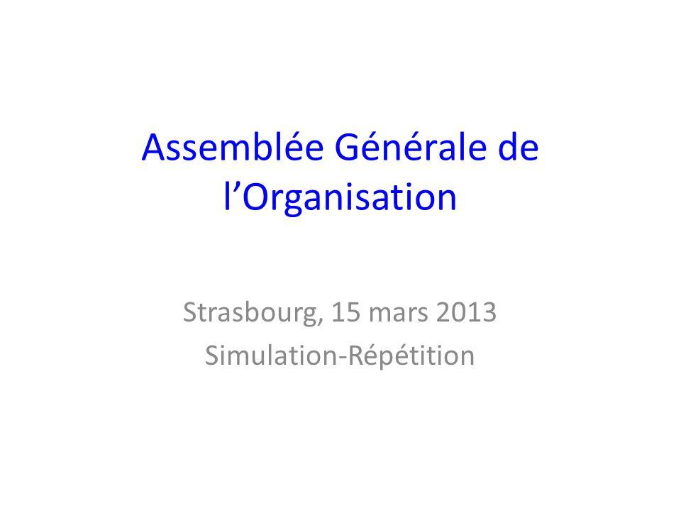 Assemblée Générale de l'Organisation