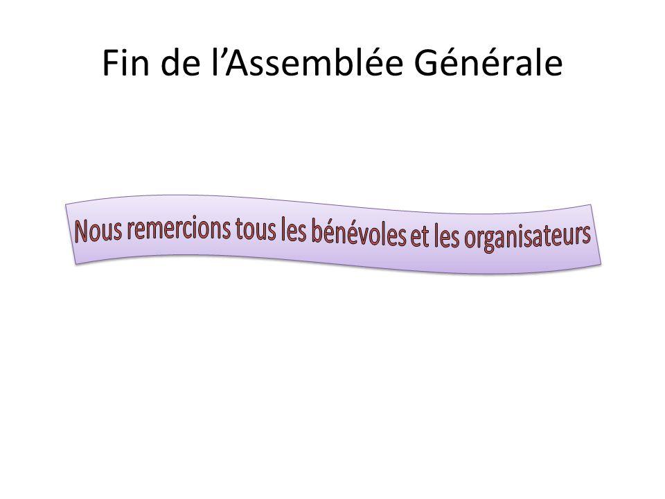 Fin de l'Assemblée Générale