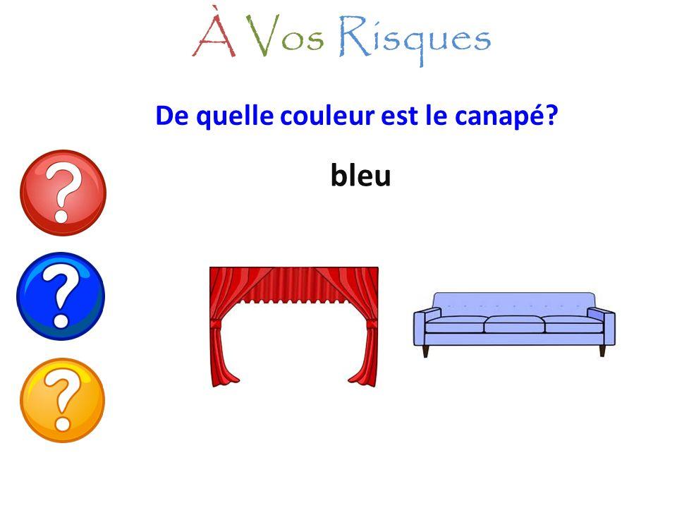 À Vos Risques De quelle couleur est le canapé bleu