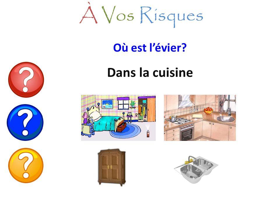 À Vos Risques Où est l'évier Dans la cuisine