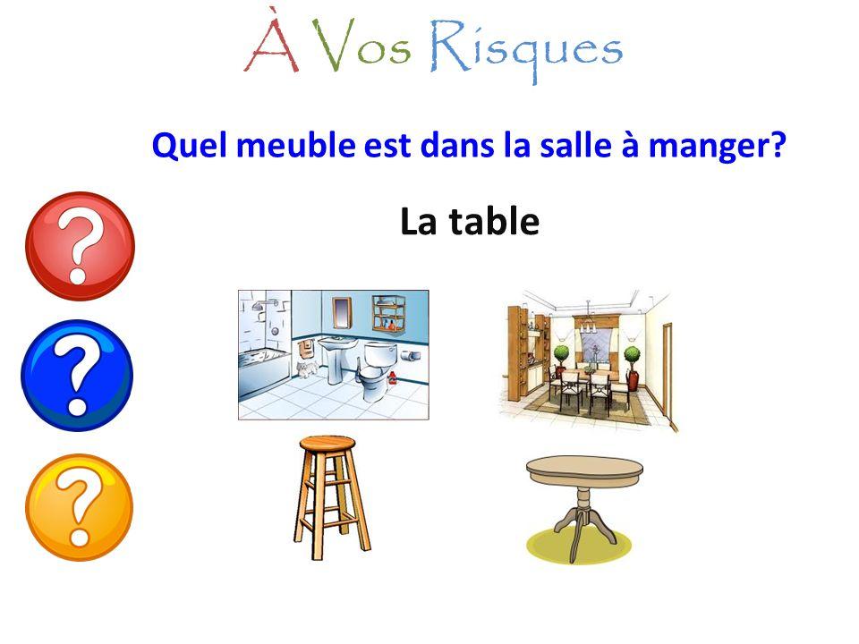 À Vos Risques Quel meuble est dans la salle à manger La table