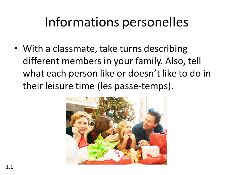 Informations personelles