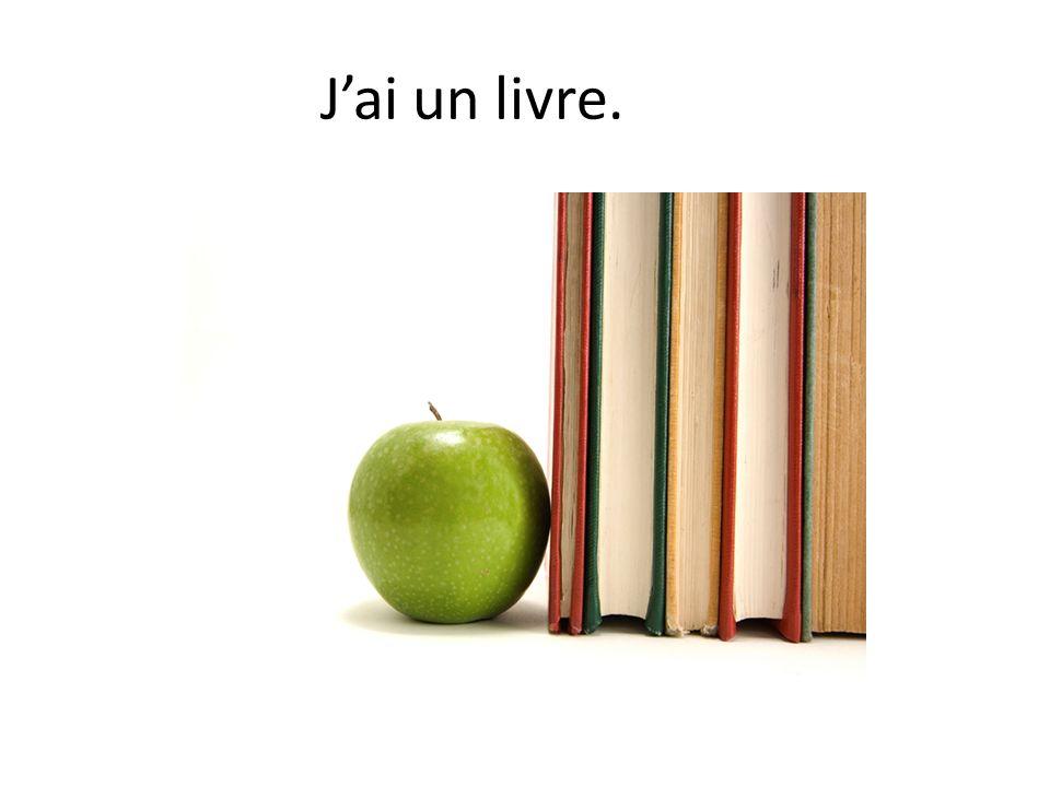 J'ai un livre.
