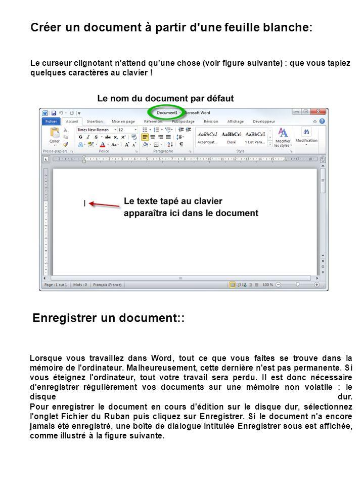 Créer un document à partir d une feuille blanche: