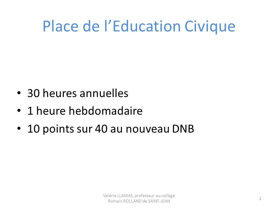 Place de l'Education Civique