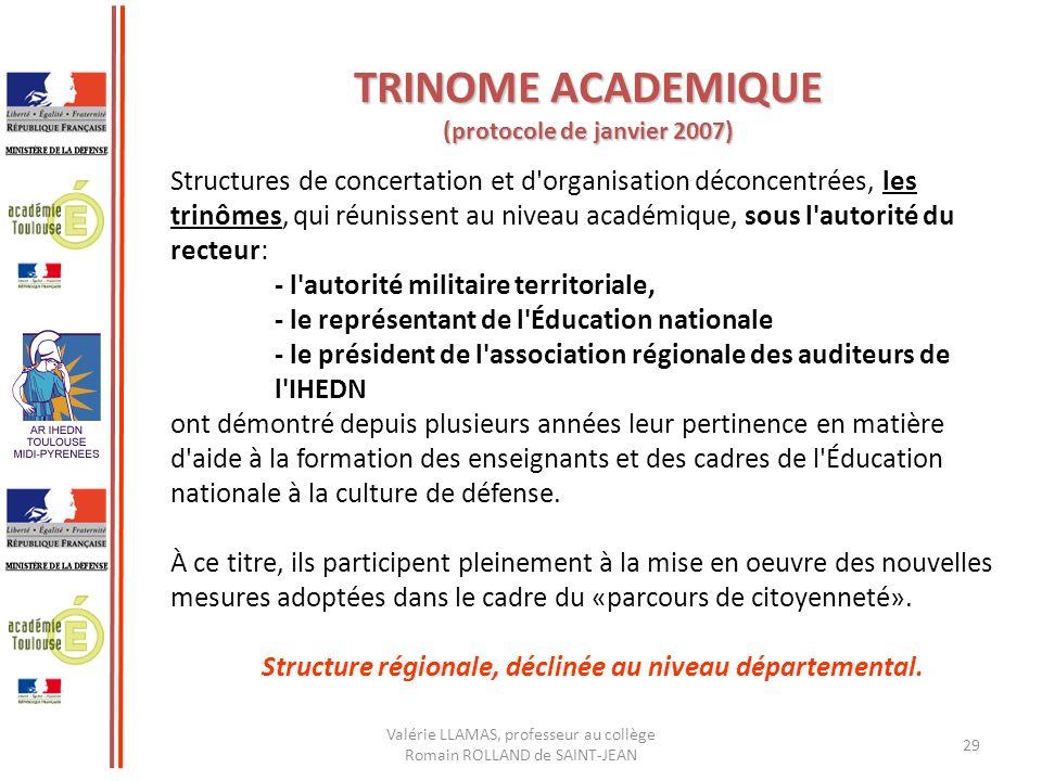 TRINOME ACADEMIQUE (protocole de janvier 2007)
