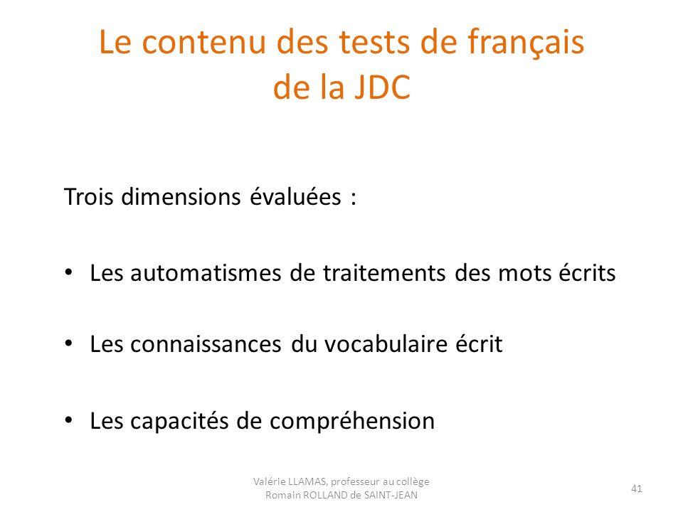 Le contenu des tests de français de la JDC