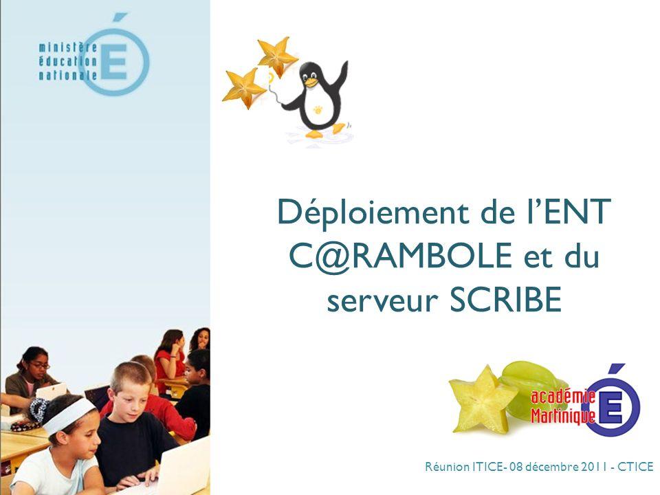 Déploiement de l'ENT C@RAMBOLE et du serveur SCRIBE