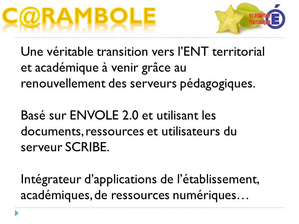 C@RAMBOLE Une véritable transition vers l'ENT territorial et académique à venir grâce au renouvellement des serveurs pédagogiques.