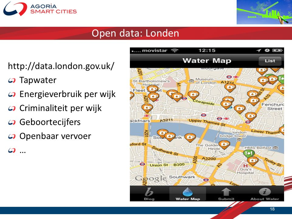 Open data: Londen http://data.london.gov.uk/ Tapwater