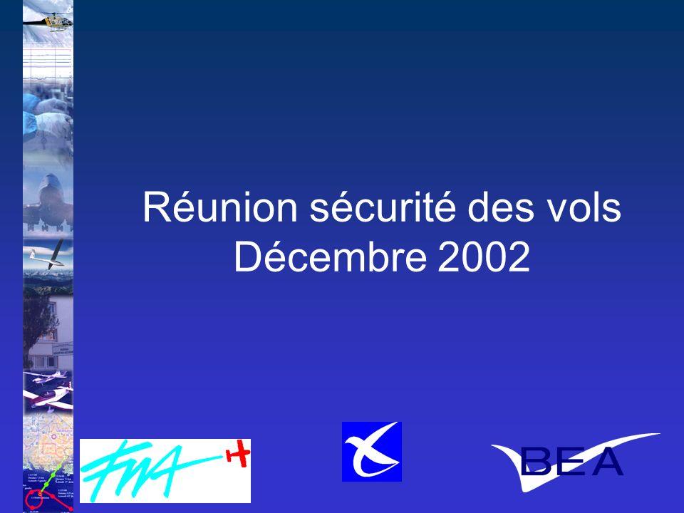 Réunion sécurité des vols Décembre 2002