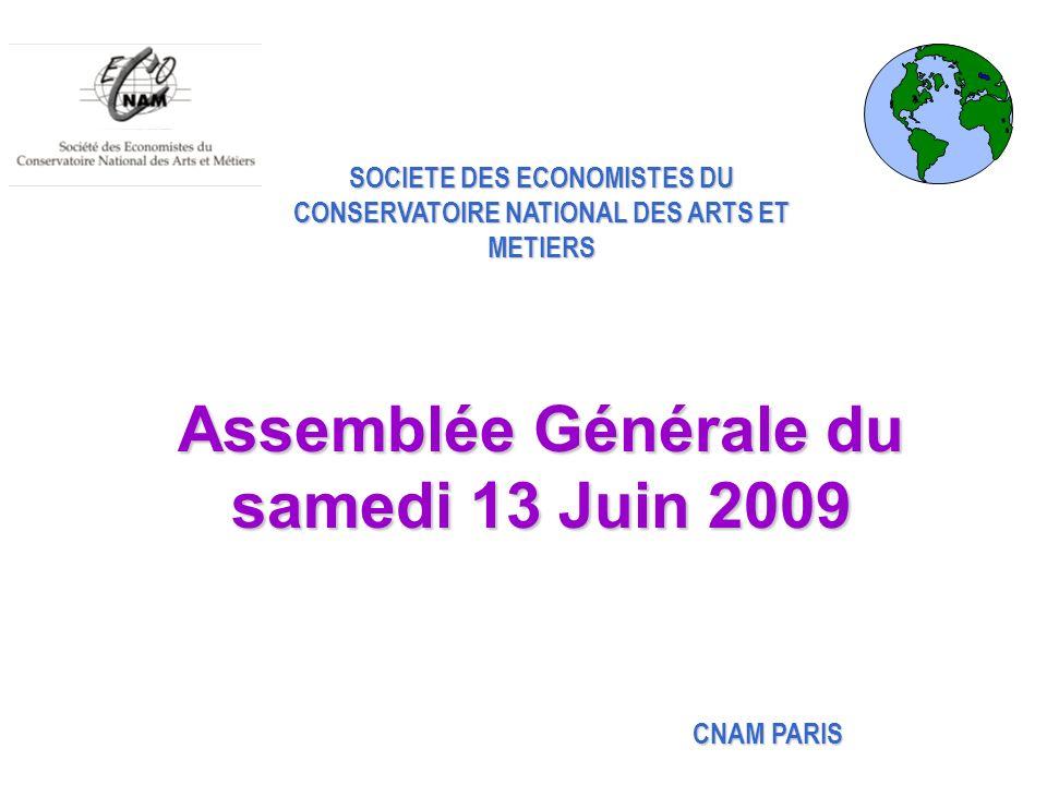 Assemblée Générale du samedi 13 Juin 2009