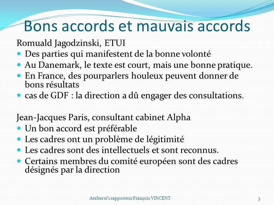 Bons accords et mauvais accords