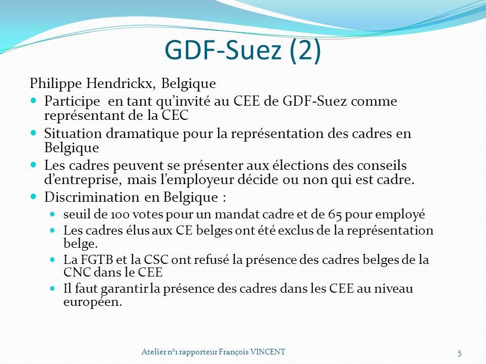 GDF-Suez (2) Philippe Hendrickx, Belgique