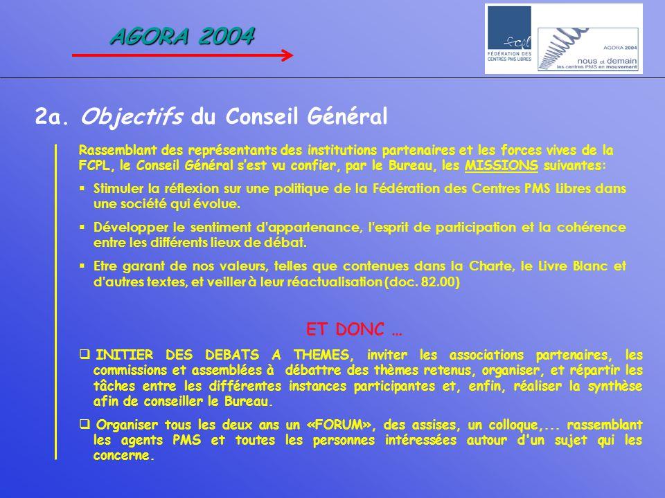 2a. Objectifs du Conseil Général