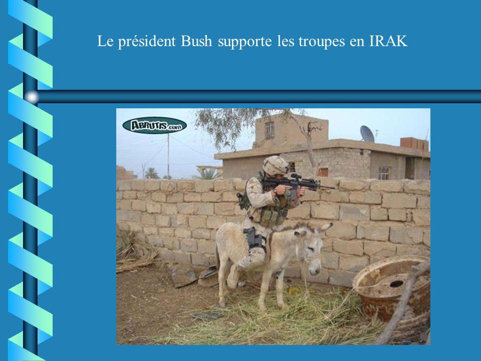 Le président Bush supporte les troupes en IRAK