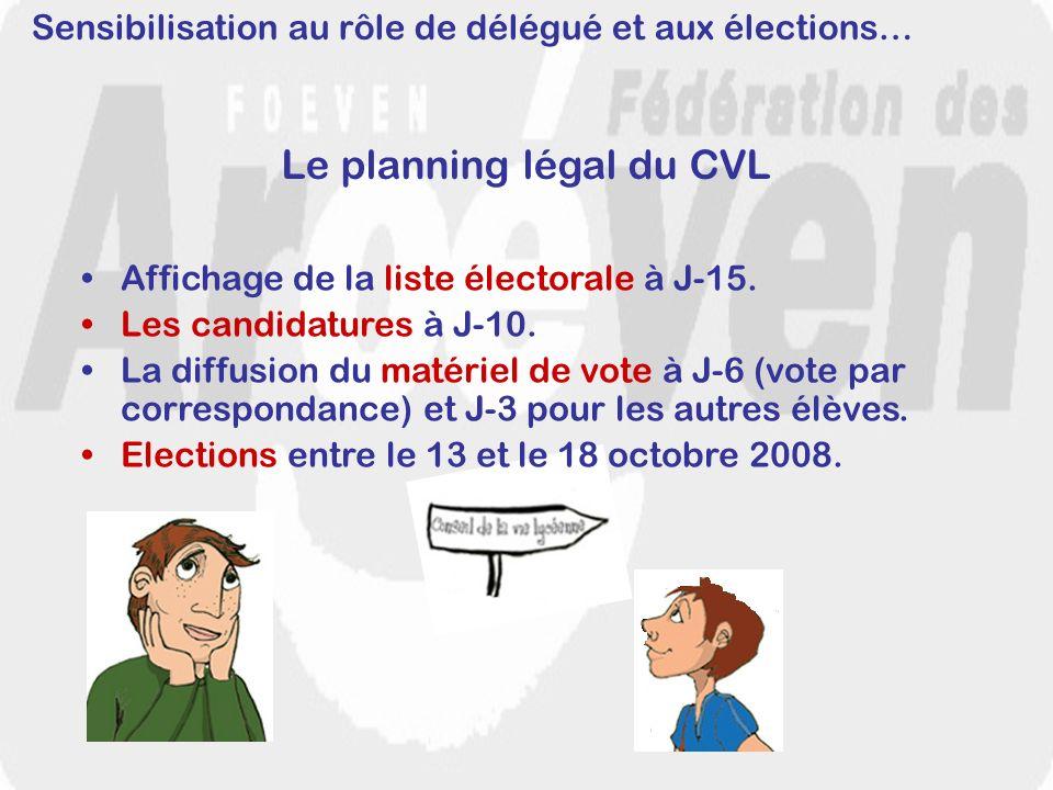 Le planning légal du CVL